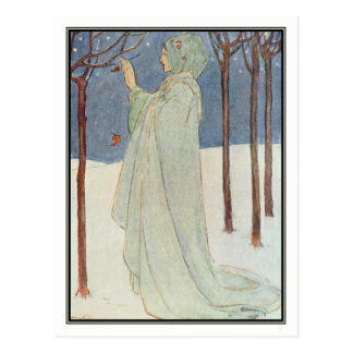 Summer (Winter) by Florence Harrison Postcard