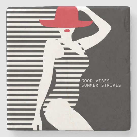 Summer Woman stone coasters