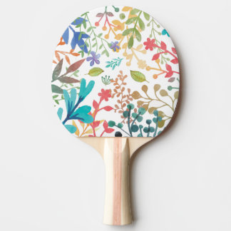 Summer Woodland Watercolor Table Tennis Paddle