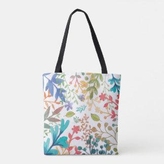 Summer Woodland Watercolor Tote Bag D/S