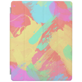 summer yellow orange mint pink coral brushstrokes iPad cover