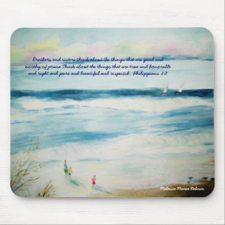 summerbeachwatercolor, Brothers and sisters,thi... Mouse Mat