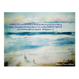 summerbeachwatercolor, Brothers and sisters,thi... Postcard