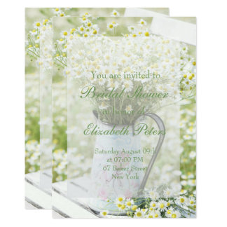 Summerfield Daisies Camomile Flower Bridal Shower Card