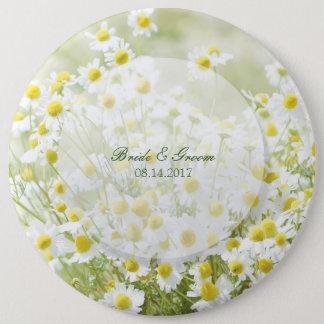 Summerfield Daisies Camomile Flower Floral Wedding 6 Cm Round Badge