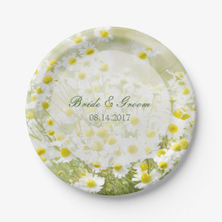 Summerfield Daisies Camomile Flower Floral Wedding 7 Inch Paper Plate