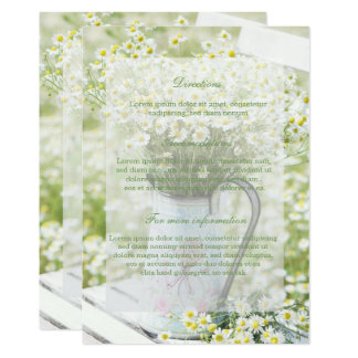 Summerfield Daisies Camomile Flower Floral Wedding Card