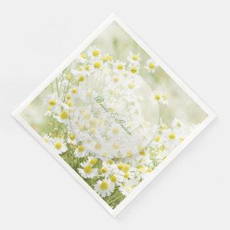 Summerfield Daisies Camomile Flower Wedding Disposable Serviettes