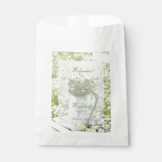 Summerfield Daisies Camomile Flower Wedding Favour Bags