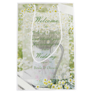 Summerfield Daisies Daisy Camomile Flower Wedding Medium Gift Bag