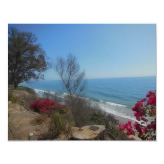 Summerland Beach Near Santa Barbara Poster