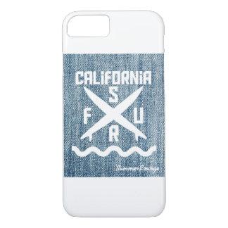 'SummerLounge'California Surf denim handle iPhone iPhone 8/7 Case