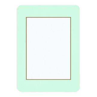 Summermint Pastel Green Mint for Summer Gazebo 4.5x6.25 Paper Invitation Card