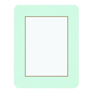 Summermint Pastel Green Mint for Summer Gazebo 4.25x5.5 Paper Invitation Card