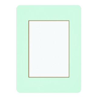 Summermint Pastel Green Mint for Summer Gazebo 5.5x7.5 Paper Invitation Card