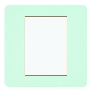 Summermint Pastel Green Mint for Summer Gazebo 5.25x5.25 Square Paper Invitation Card