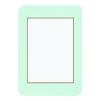 Summermint Pastel Green Mint for Summer Gazebo 3.5x5 Paper Invitation Card