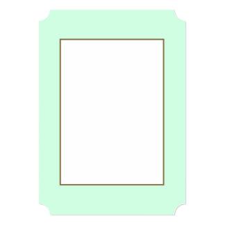 Summermint Pastel Green Mint for Summer Gazebo 5x7 Paper Invitation Card