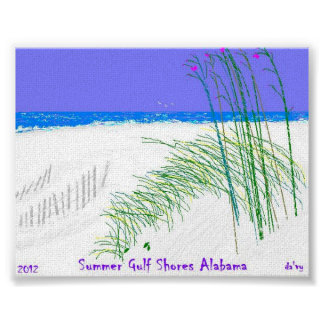 Summers at Gulf Shores Alabama Poster