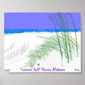 Summers at Gulf Shores Alabama Poster
