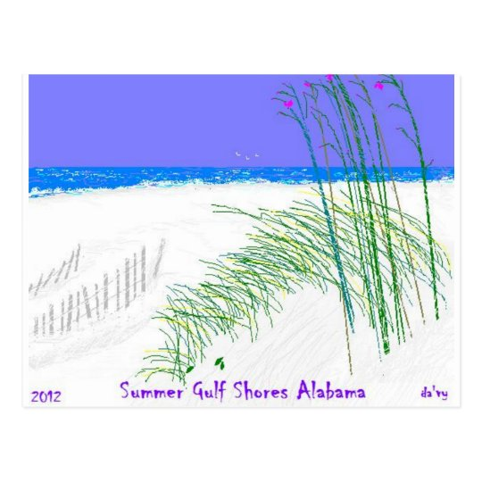 Summers at Gulf Shores Postcard