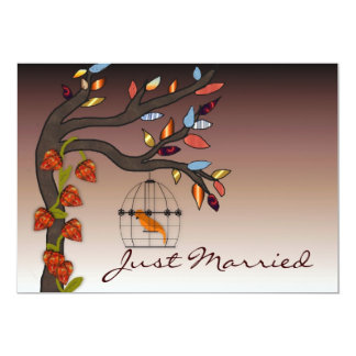 Summers End Just Married 13 Cm X 18 Cm Invitation Card