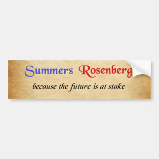 Summers / Rosenberg Campaign Sticker Bumper Sticker