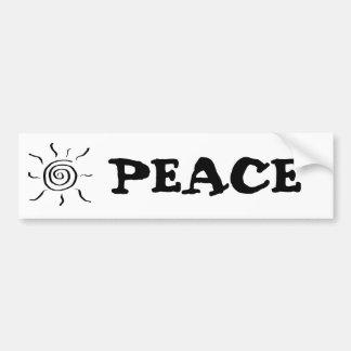 Summersgarden Sunshine Black and White - Car Bumper Sticker