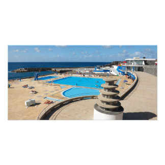 Summertime at Ribeira Grande Personalized Photo Card