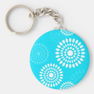 Summertime blue flowers Keychain
