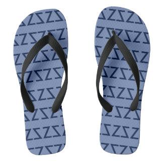 Summertime Blues Flip Flops