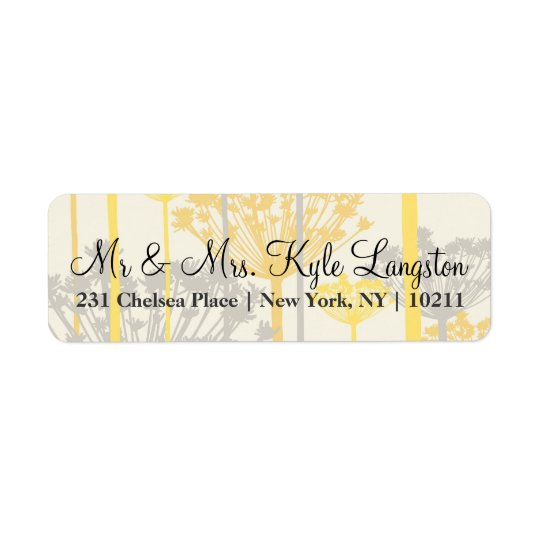 Summertime Dandelions Return Address Labels