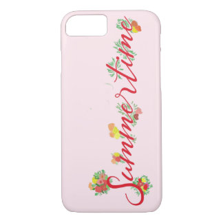 Summertime Floral - Pink iPhone Case
