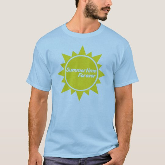 Summertime Forever Adult T-Shirt Blue