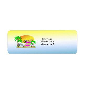 Summertime - Girl Customizable Return Address Labe Return Address Label