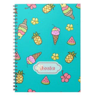 Summertime Ice-Cream Notebook