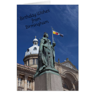Summertime in Birmingham Birthday Card