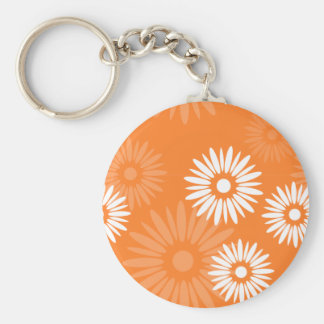 Summertime orange flowers Keychain