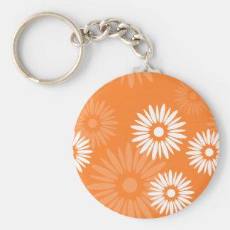 Summertime orange flowers Keychain