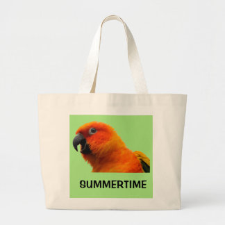 Summertime Parrot Tote Bag