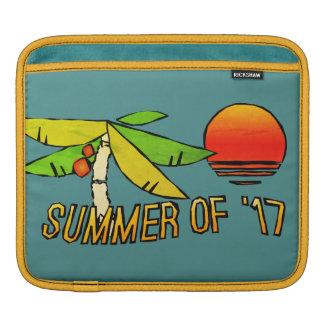 SummerTime - Perfect Beach Sunset - Tiled on Back iPad Sleeve