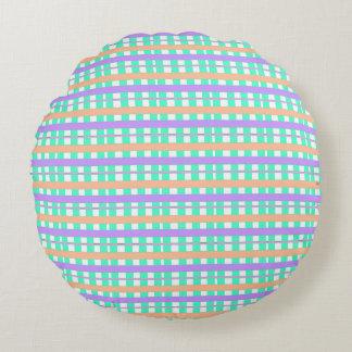 Summertime-Plaids-Robin's-Egg--Round Round Cushion