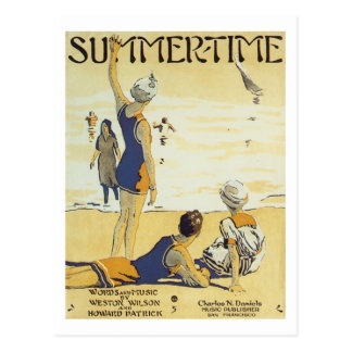 Summertime Vintage Songbook Cover Postcard