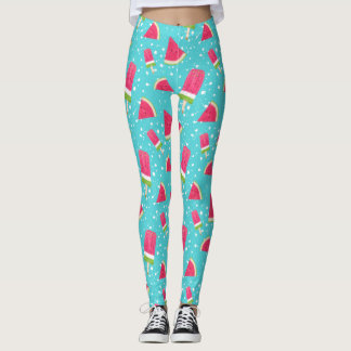 Summertime watermelon and Popsicle theme leggings