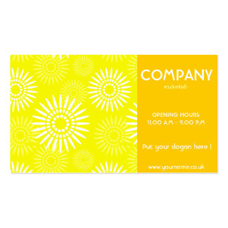 Summertime Yellow Business Card