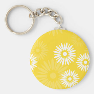 Summertime yellow flowers Keychain
