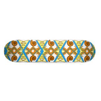 Summery Geometric Skateboard