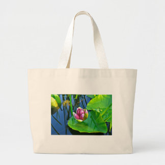Summery ode ton the Water Lily Large Tote Bag