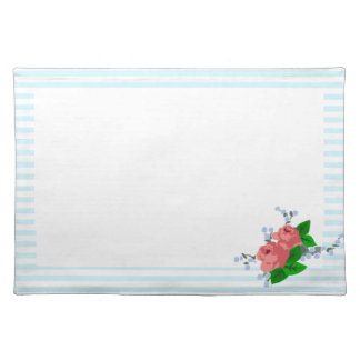 Summery Stripes and Roses Placemat