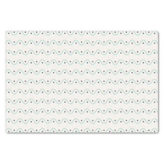 Summery Waves and Dots Tissue Paper